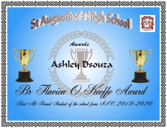 Br O Keeffe Award for Best All Round Student of SSC 2020