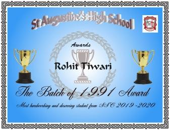 Batch of 1991 Award
